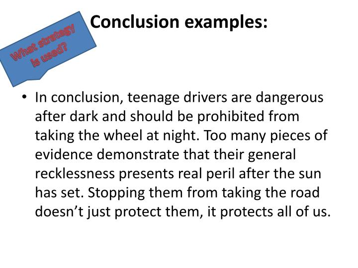 Conclusion examples: