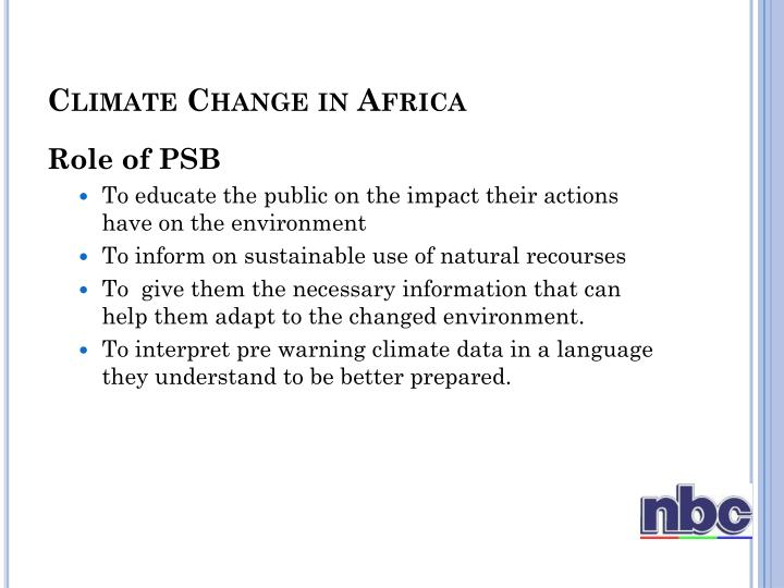 Climate change in africa1