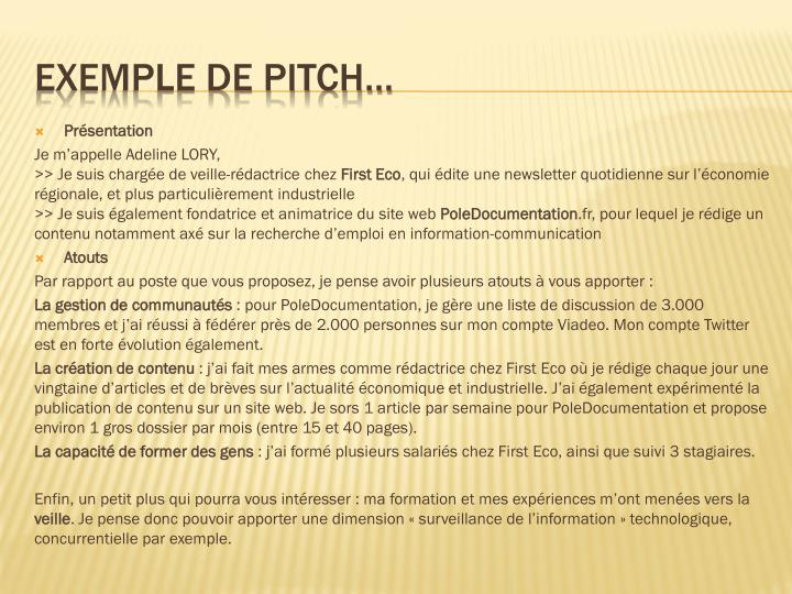 ppt - le pitch u2026 ou  u00ab elevator pitch  u00bb powerpoint presentation