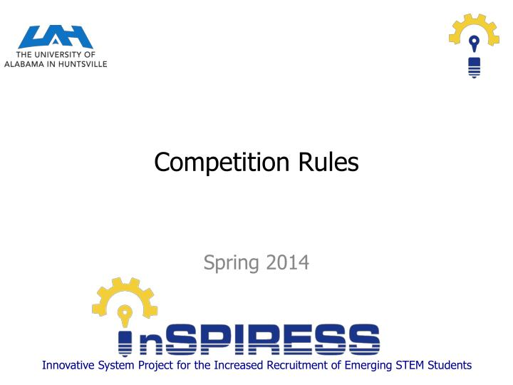 competition rules n.