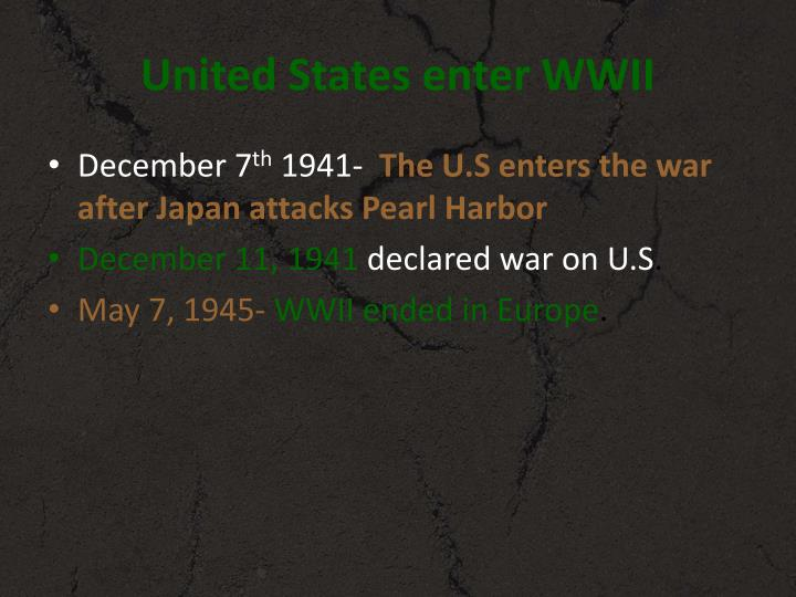 Us entered ww2 date in Perth