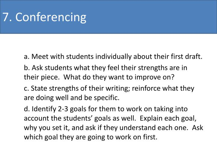 7. Conferencing