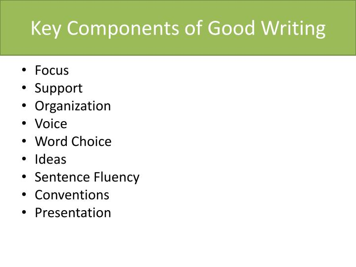 Key Components of Good Writing