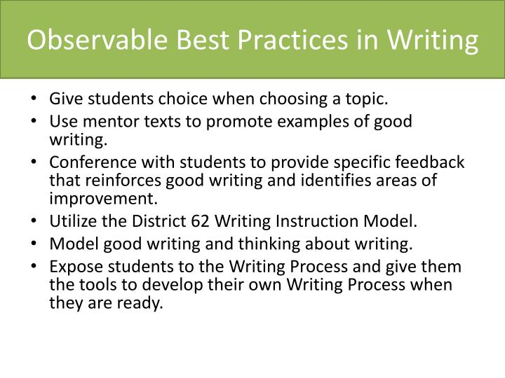 Observable best practices in writing