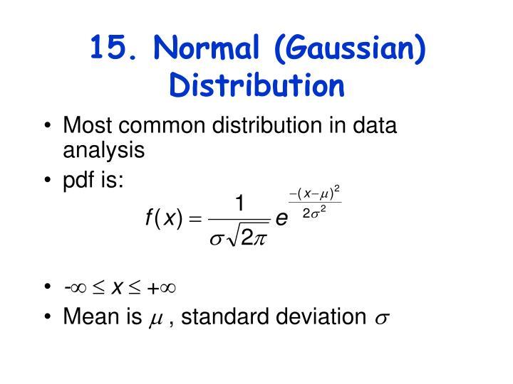 15. Normal (Gaussian) Distribution