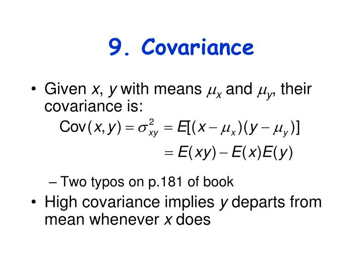 9. Covariance