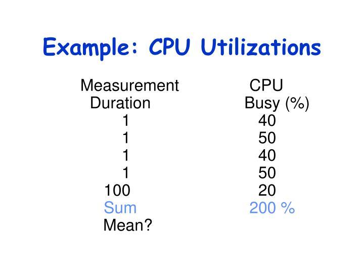 Example: CPU Utilizations