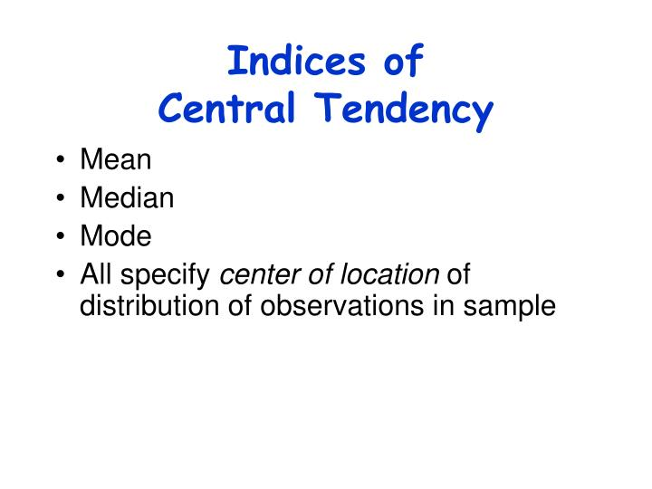 Indices of
