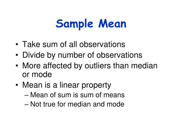 Sample Mean