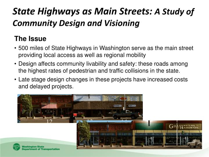 State Highways as Main Streets: