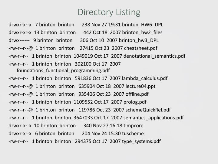 Directory Listing