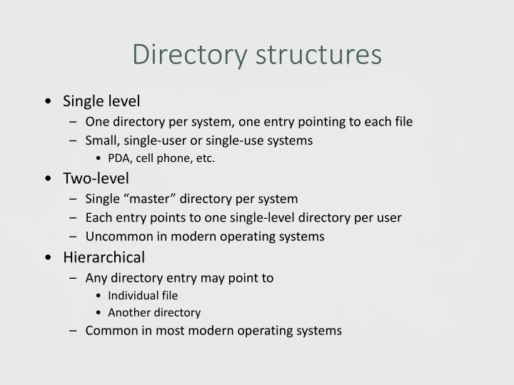 Directory structures