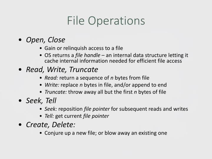 File Operations