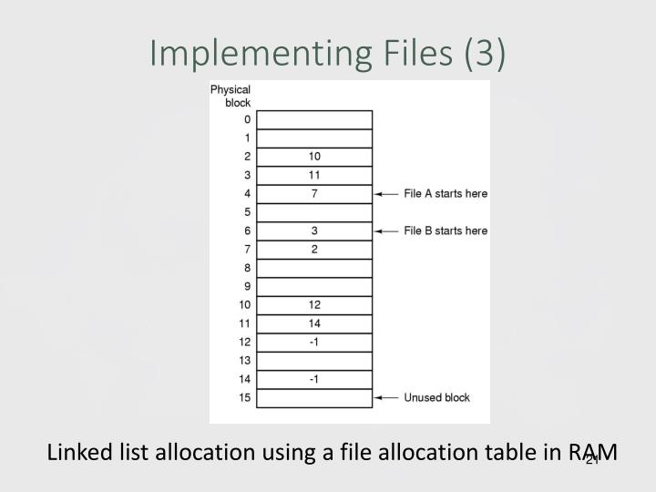 Implementing Files (3)