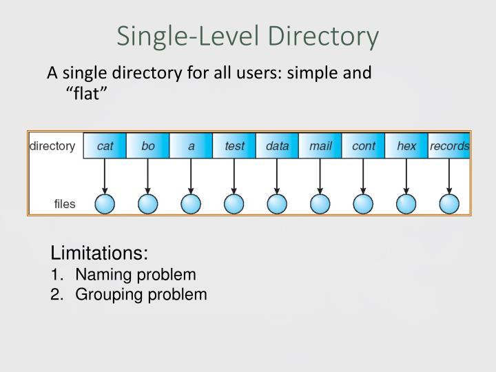 Single-Level Directory