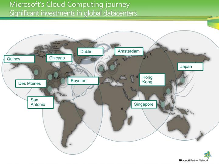 Microsoft s cloud computing journey significant investments in global datacenters