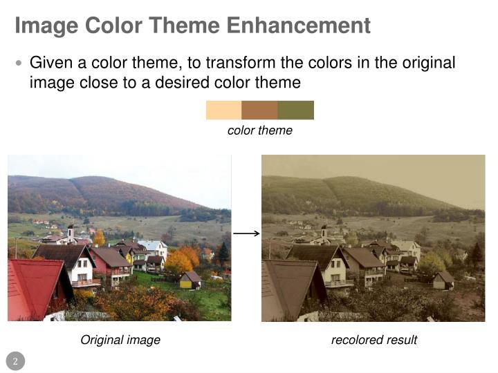Image color theme enhancement