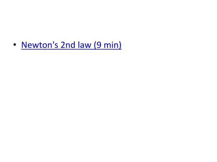 Newton's 2nd law (9 min)