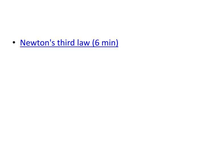 Newton's third law (6 min)