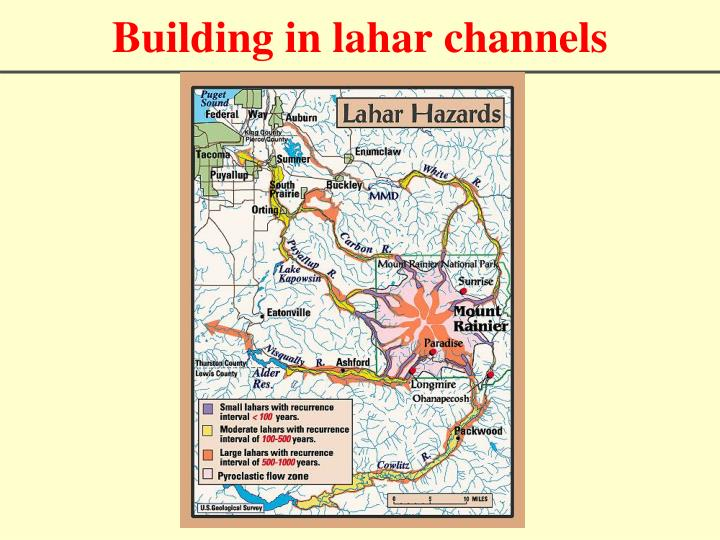 Building in lahar channels