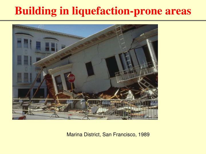 Building in liquefaction-prone areas