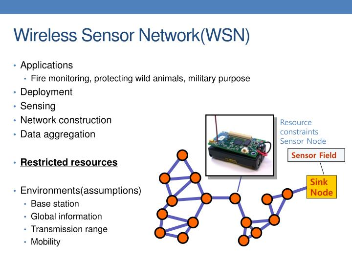 Wireless sensor network wsn
