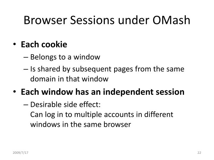 Browser Sessions under