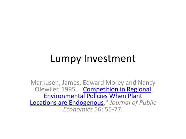 Lumpy Investment