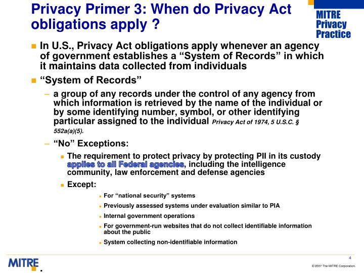Privacy Primer