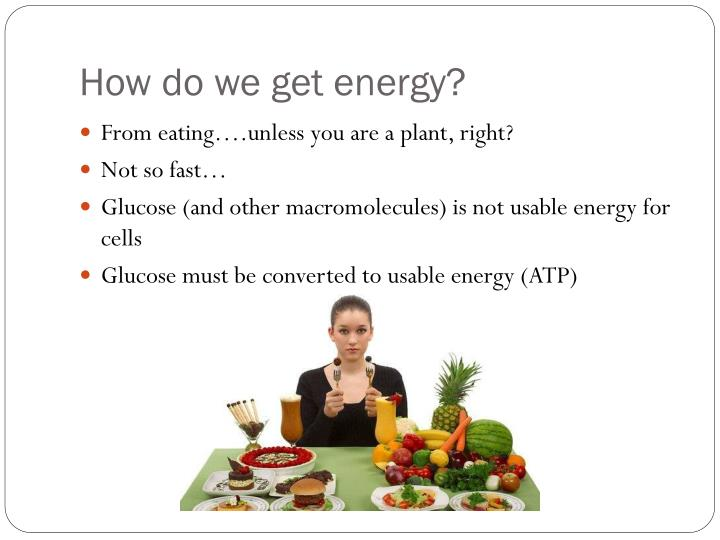 How do we get energy?