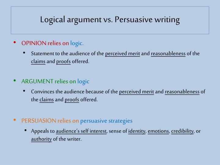 Logical argument vs.