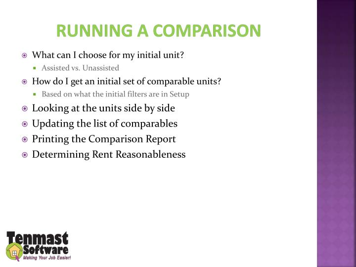 Running a Comparison