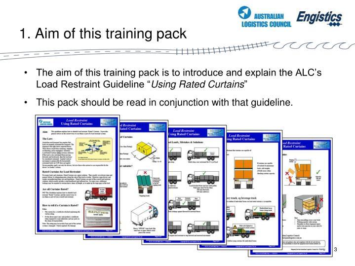 1 aim of this training pack
