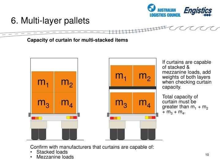 6. Multi-layer pallets