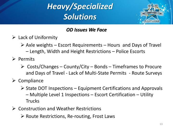 Heavy/Specialized