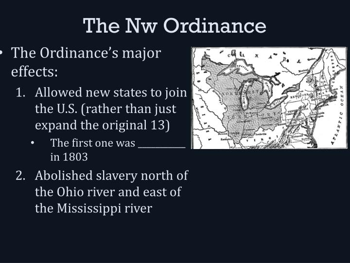 The nw ordinance1