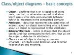 class object diagrams basic concepts