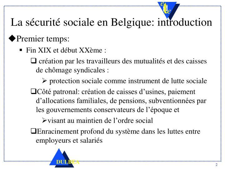 e8a00eb54a5 PPT - La sécurité sociale en Belgique Caractéristiques et défis ...
