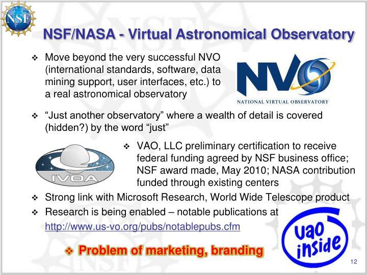 NSF/NASA - Virtual Astronomical Observatory