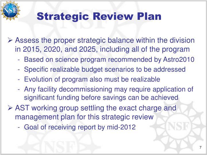 Strategic Review Plan
