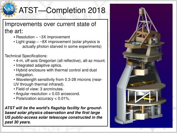 ATST—Completion 2018