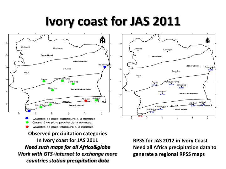 Ivory coast for JAS 2011