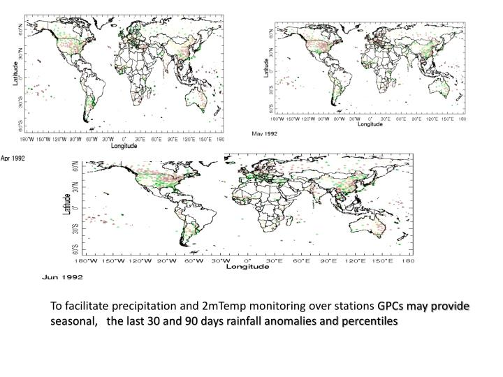 To facilitate precipitation and 2mTemp monitoring over stations