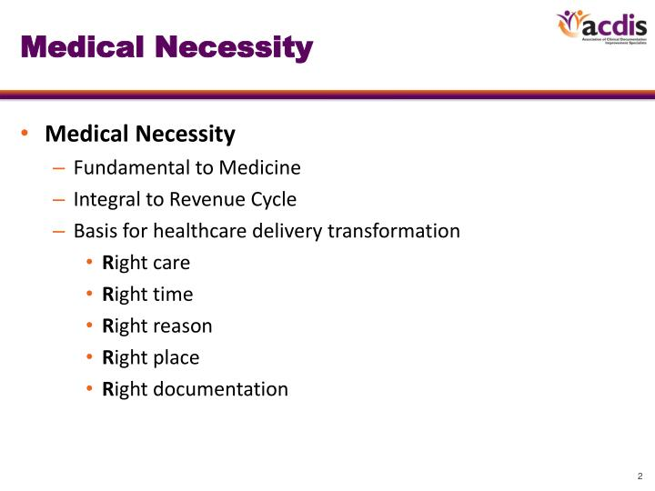 Medical necessity1