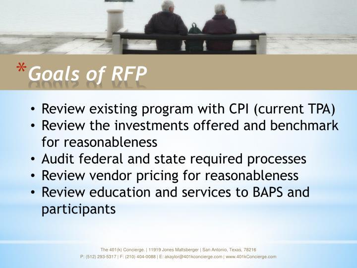 Goals of rfp