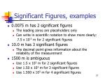 significant figures examples