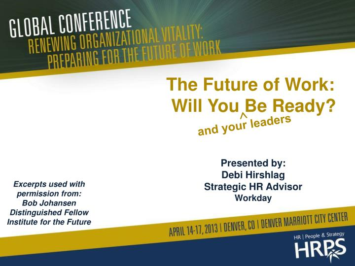 the future of work will you be ready