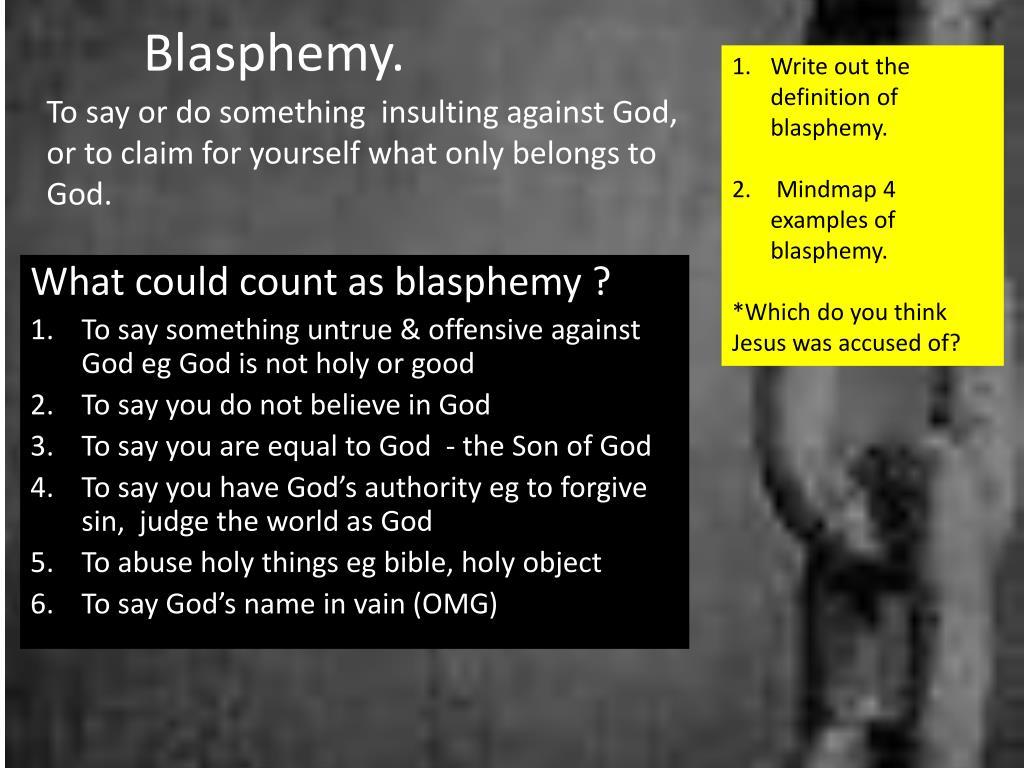 ppt - blasphemy. powerpoint presentation - id:1889759