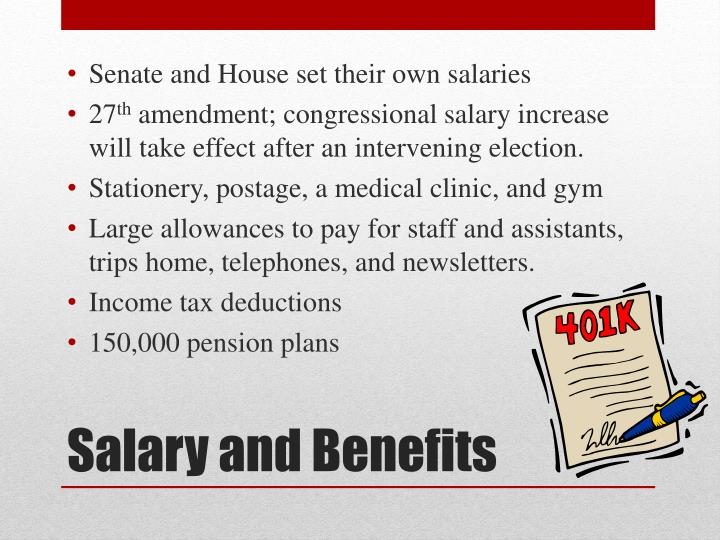 Senate and House set their own salaries