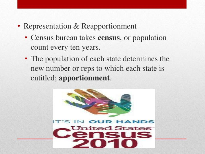 Representation & Reapportionment